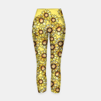 Thumbnail image of Sunflowers everywhere summer sun Yoga Pants, Live Heroes