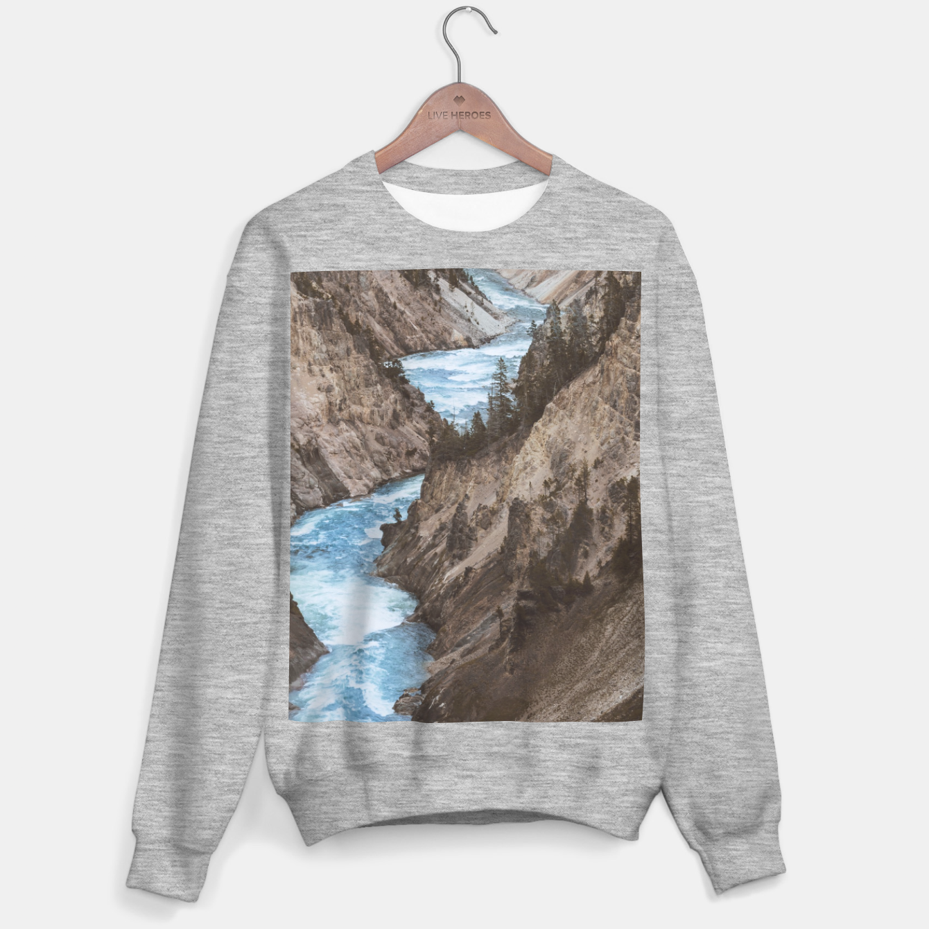 Image of Whitetains Cotton Sweatshirts - Live Heroes