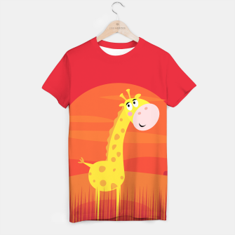 Thumbnail image of MAN funny Designers T-Shirt with Yellow Giraffe, Live Heroes