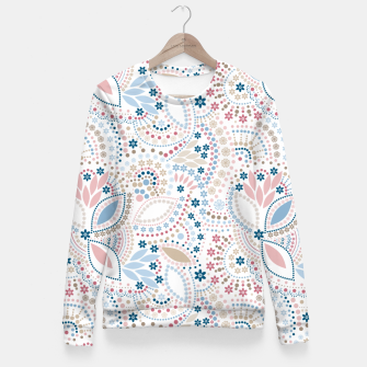 Thumbnail image of Seamless beads pattern in pastel colors Fitted Waist Sweater, Live Heroes