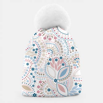 Thumbnail image of Seamless beads pattern in pastel colors Beanie, Live Heroes