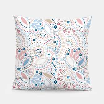 Thumbnail image of Seamless beads pattern in pastel colors Pillow, Live Heroes