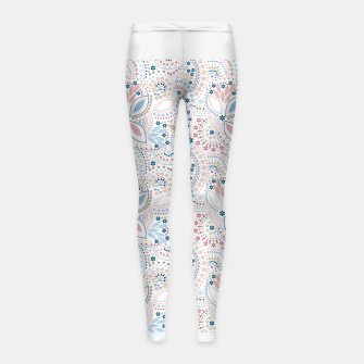 Thumbnail image of Seamless beads pattern in pastel colors Girl's Leggings, Live Heroes