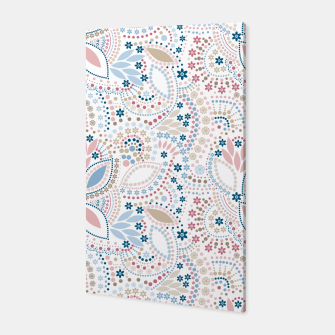 Thumbnail image of Seamless beads pattern in pastel colors Canvas, Live Heroes