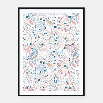 Thumbnail image of Seamless beads pattern in pastel colors Framed poster, Live Heroes
