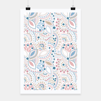 Thumbnail image of Seamless beads pattern in pastel colors Poster, Live Heroes
