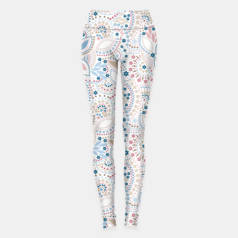 Thumbnail image of Seamless beads pattern in pastel colors Leggings, Live Heroes