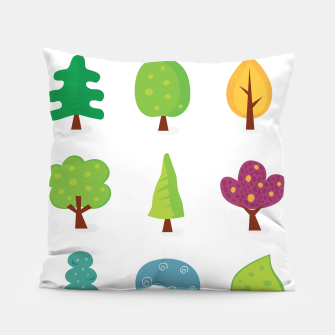 Thumbnail image of Art Designers Pillow with GREEN TREES , Live Heroes
