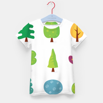 Thumbnail image of Kids designers T-Shirt with green Trees, Live Heroes
