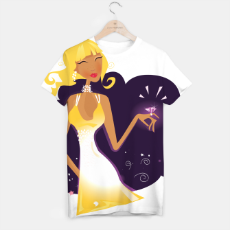Thumbnail image of Gold hair magical Princess, Original tshirt with Drawing, Live Heroes
