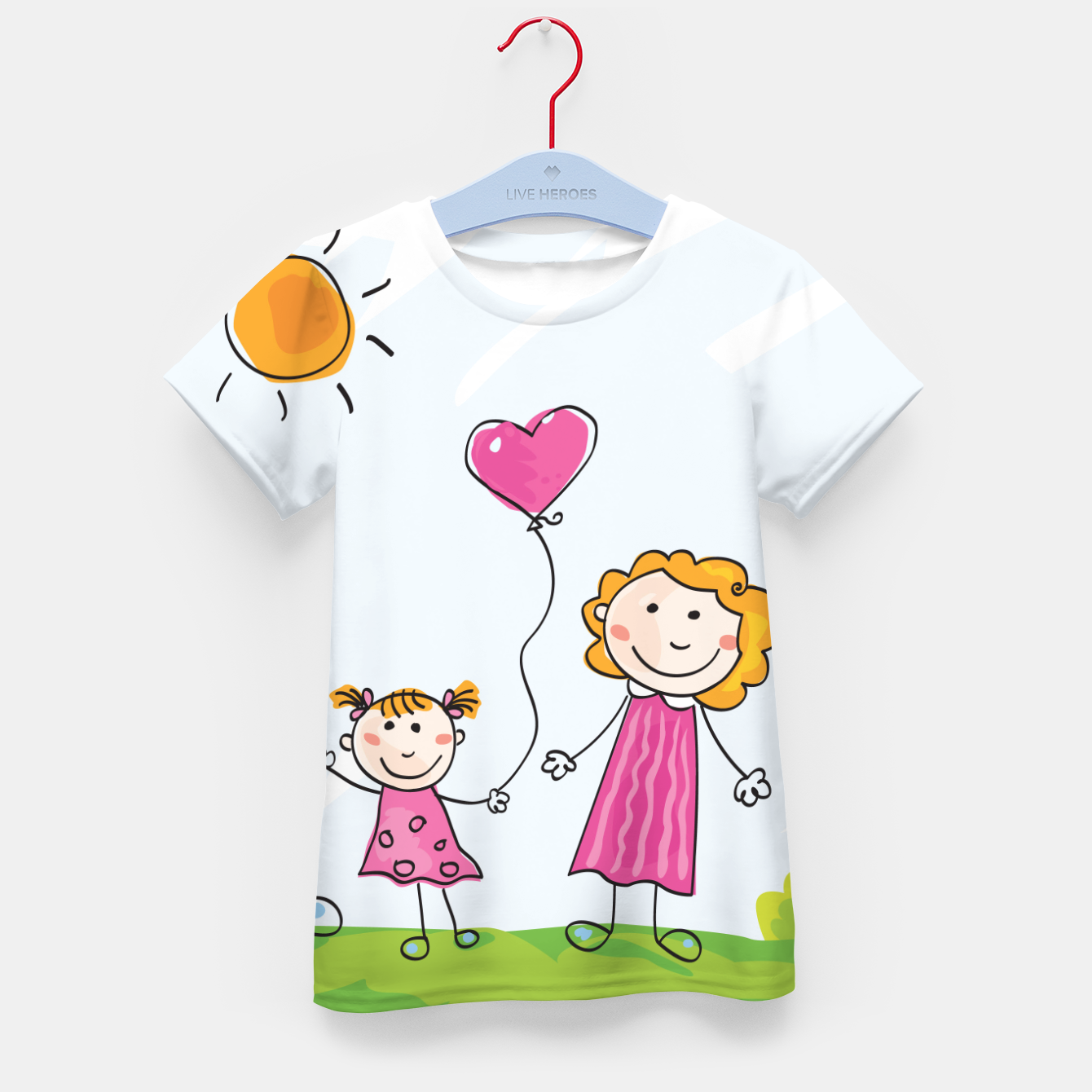 Image of Amazing Kids T-Shirt with Doodle characters - Live Heroes