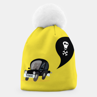 Thumbnail image of Cute artistic Beanie with Black TOXIC Car Original drawing, Live Heroes