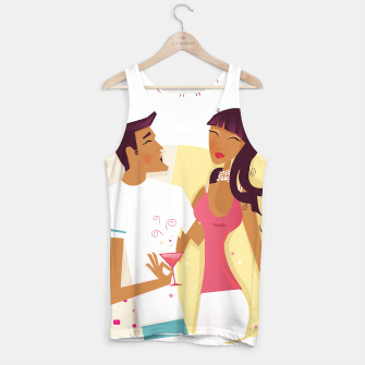 Thumbnail image of Original Tank Top : Girl with Man original Artwork, Live Heroes