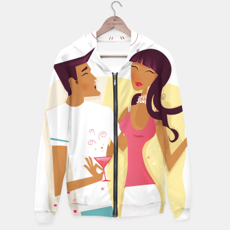 Thumbnail image of Artistic designers Hoodie with Cocktail Love Couple, Live Heroes