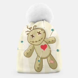 Thumbnail image of Artistic Beanie with Brown Voodoo painted Doll, Live Heroes