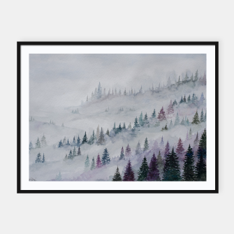 Thumbnail image of Purple Haze.Forest Framed poster, Live Heroes