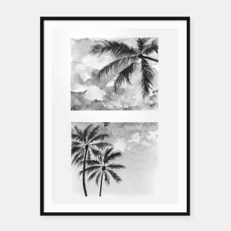 Imagen en miniatura de Palm trees.LA.Watercolor Framed poster, Live Heroes