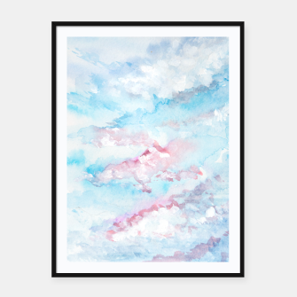Thumbnail image of Abstract Sky Framed poster, Live Heroes