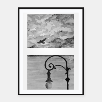 Thumbnail image of Sky anf streetlight view Framed poster, Live Heroes