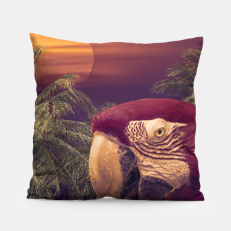 Thumbnail image of Tropical Style Collage Design Poster Pillow, Live Heroes