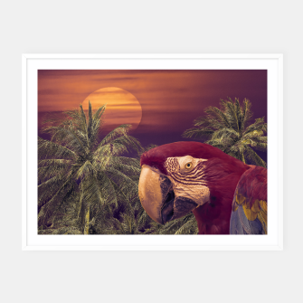 Thumbnail image of Tropical Style Collage Design Poster Framed poster, Live Heroes