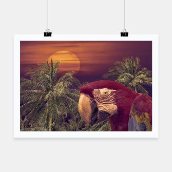Thumbnail image of Tropical Style Collage Design Poster Poster, Live Heroes