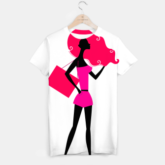 Thumbnail image of Designers T-Shirt with Model girl Illustration Original, Live Heroes