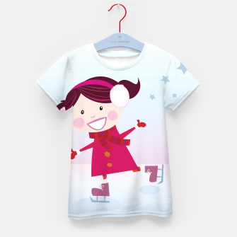 Thumbnail image of Kids T-Shirt with Creative Ice skating Red Girl, Live Heroes