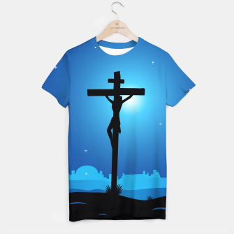Thumbnail image of Designers T-Shirt : Young Christianity theme Blue Black, Live Heroes