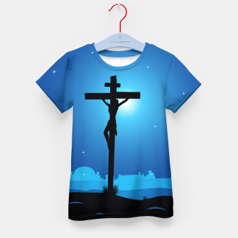 Thumbnail image of Kids artistic T-Shirt : THEME CHRISTIANITY BLUE BLACK, Live Heroes