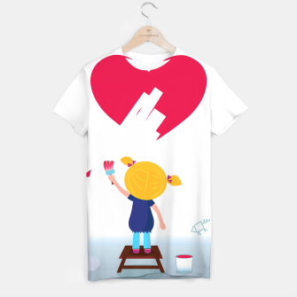 Thumbnail image of Women artistic Painted T-Shirt, Live Heroes