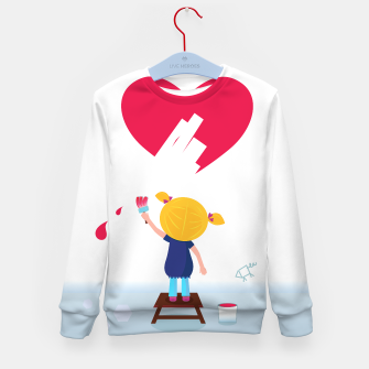 Thumbnail image of Kids Sweater with LOVE GIRL WHICH PAINT, Live Heroes