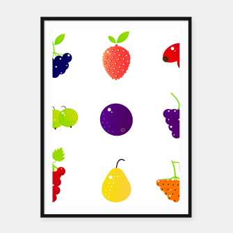 Thumbnail image of Framed poster : Wonderful colorful Berries, Live Heroes