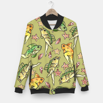 Thumbnail image of Reverse mermaid Baseball Jacket, Live Heroes