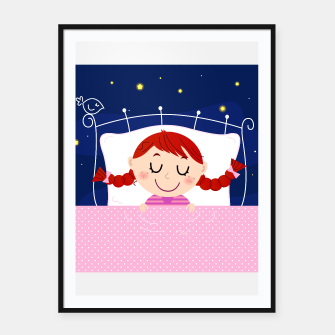 Thumbnail image of Framed poster : Magical sleeping Little cute Girl, Live Heroes