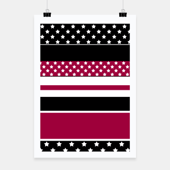 Miniaturka Stars and stripes print Poster, Live Heroes