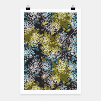 Miniaturka Abstract seamless floral pattern Poster, Live Heroes
