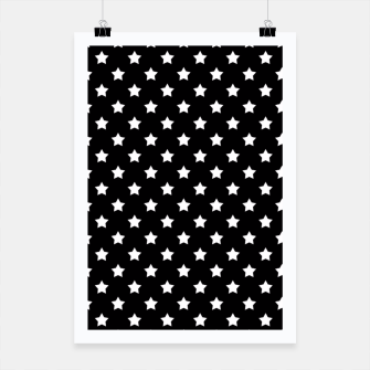 Miniaturka Stars black and white pattern Poster, Live Heroes