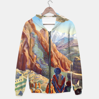 Thumbnail image of Peru of the Incas Travel Poster Art Hoodie, Live Heroes
