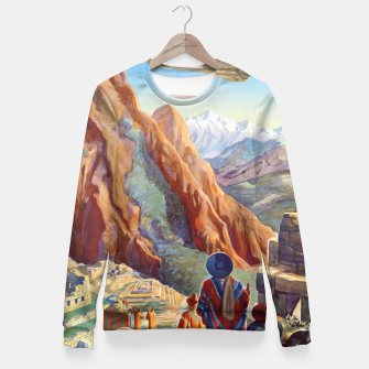 Thumbnail image of Peru of the Incas Travel Poster Art Fitted Waist Sweater, Live Heroes