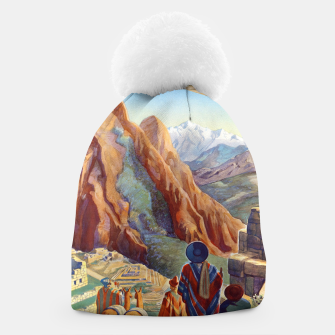 Thumbnail image of Peru of the Incas Travel Poster Art Beanie, Live Heroes
