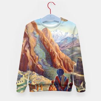 Thumbnail image of Peru of the Incas Travel Poster Art Kid's Sweater, Live Heroes