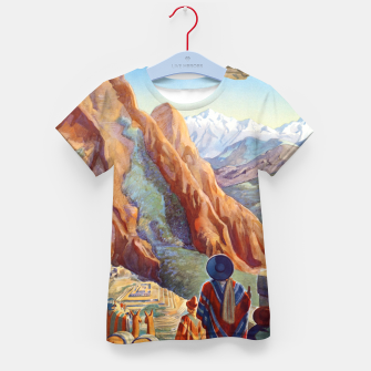 Thumbnail image of Peru of the Incas Travel Poster Art Kid's T-shirt, Live Heroes
