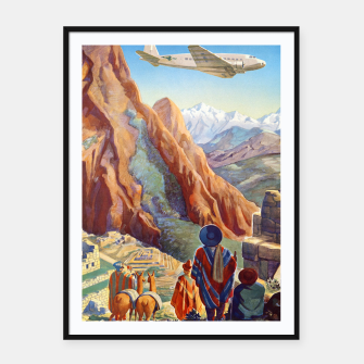 Thumbnail image of Peru of the Incas Travel Poster Art Framed poster, Live Heroes