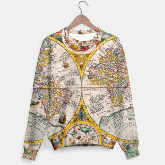 Thumbnail image of ORBIS TERRA RVM Old-Cartographic Map Sweater, Live Heroes