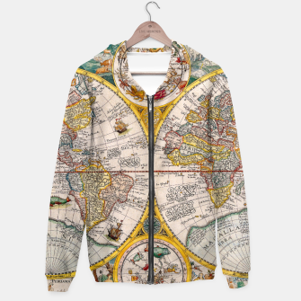 Thumbnail image of ORBIS TERRA RVM Old-Cartographic Map Hoodie, Live Heroes