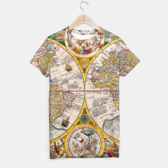 Thumbnail image of ORBIS TERRA RVM Old-Cartographic Map T-shirt, Live Heroes