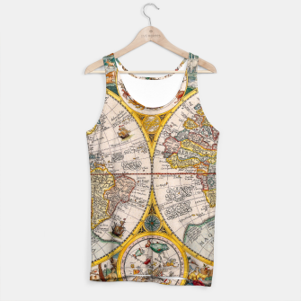 Thumbnail image of ORBIS TERRA RVM Old-Cartographic Map Tank Top, Live Heroes