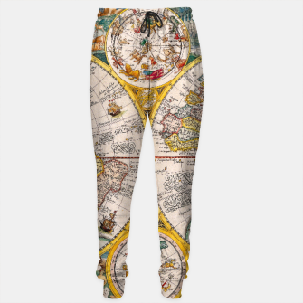 Thumbnail image of ORBIS TERRA RVM Old-Cartographic Map Sweatpants, Live Heroes