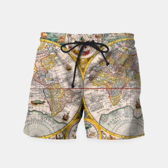 Thumbnail image of ORBIS TERRA RVM Old-Cartographic Map Swim Shorts, Live Heroes